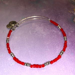 Alex and Ani Jewelry - Alex and Ani Red Beaded Bangle